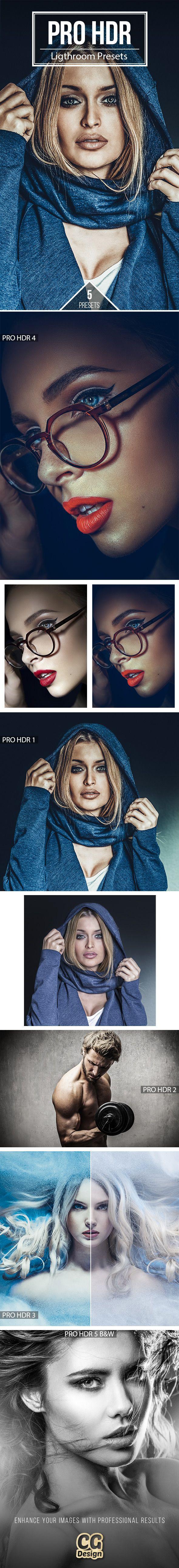 PRO HDR  - 5 Premium Lightroom Presets - #Lightroom #Presets Add-ons