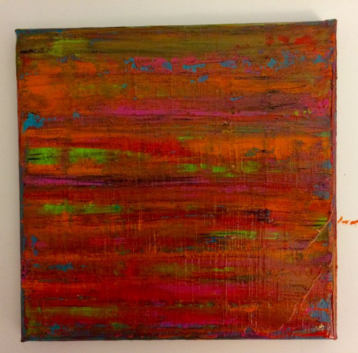 Between lines: Abstract acrylic painting by Bego Ayala