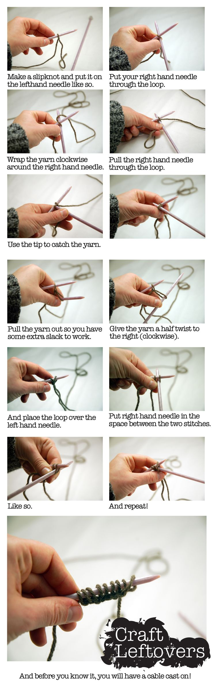 Knitting Long Tail Cast On How Much : Best images about craft leftovers on pinterest
