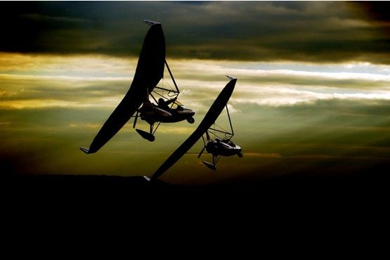 Stunning pictures of microlights above Gloucestershire ahead of World Air Games in Dubai