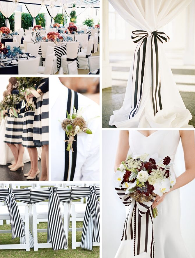 Inspiration board: Black and white stripes | via Originální Svatba