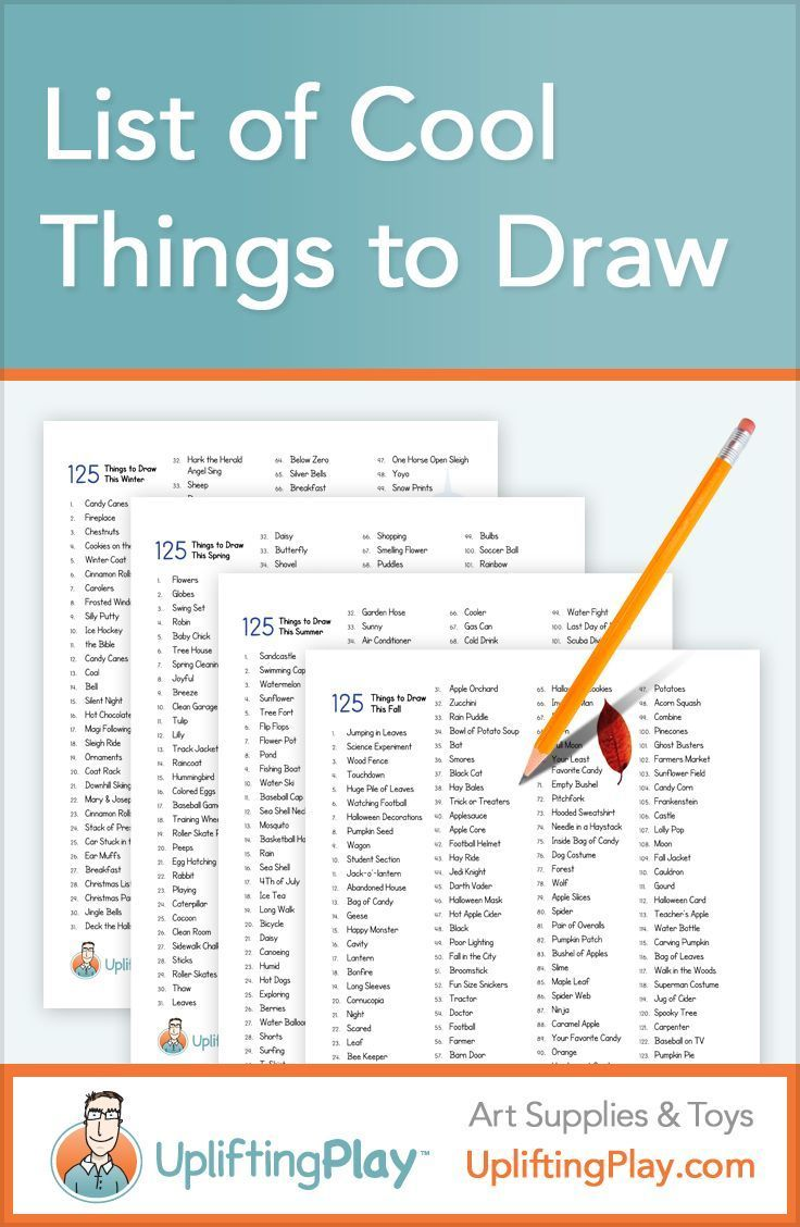 List of things to draw for kids fun things to draw art for Fun things to draw