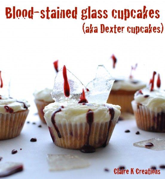 Dexter cupcakes - via Claire K Creations www.clairekcreations.com #Dexter #Halloween