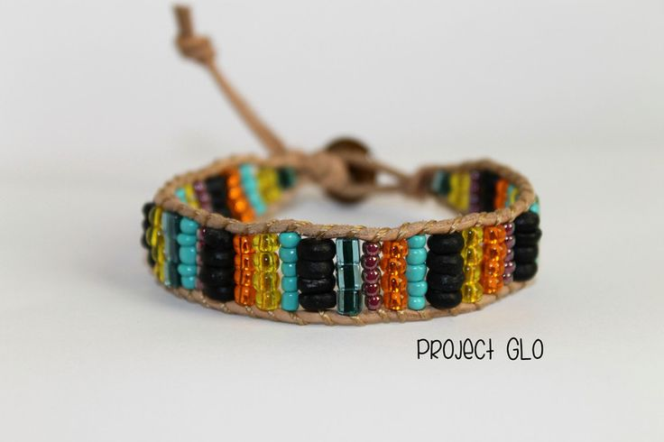 Leather Wrap Bracelet Braccialetto da avvolgere di Project GLO su DaWanda.com