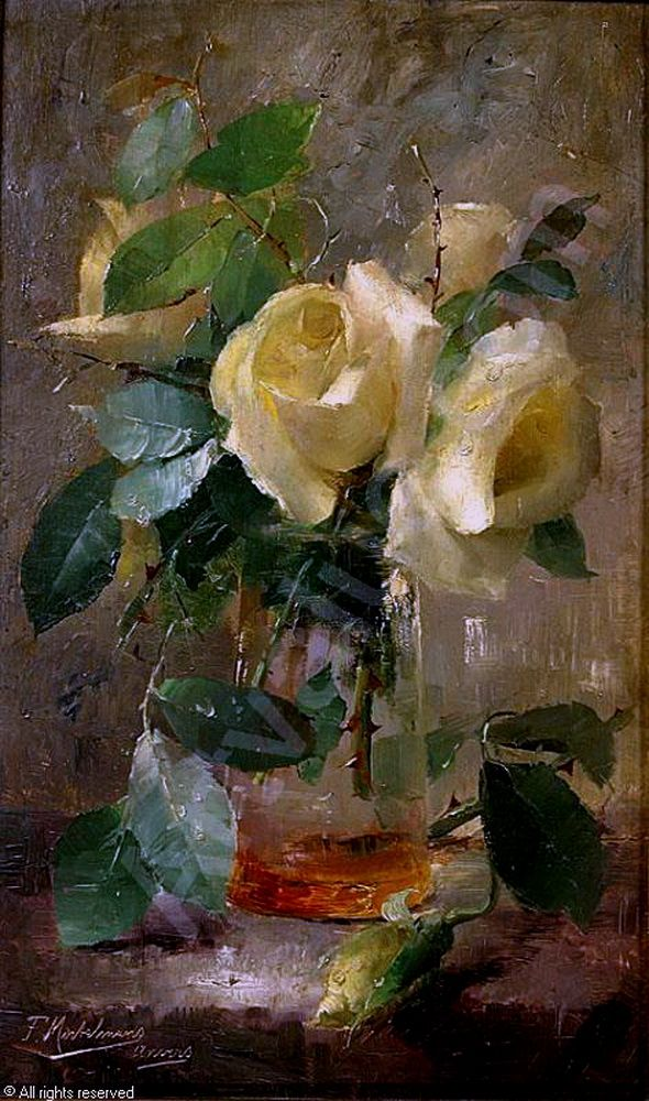 Бельгийский художник Frans Mortelmans (Антверпен, 1 Май 1865 - 11 апреля 1936)