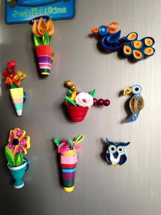 84 best images about quilled magnet on pinterest for Where to buy magnets for crafts
