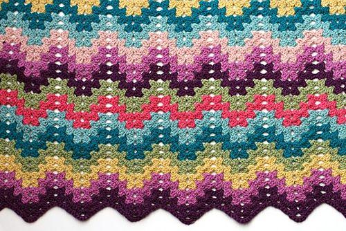 Granny Ripple Blanket Free Pattern Designer Made The