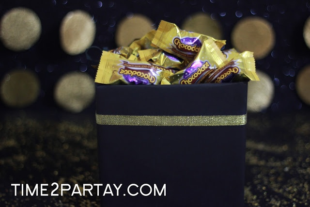 Time to Partay!: Hajj Mubarak!- #Hajj #Kaaba #Black #gold #decorations #eid #box #favors #treats