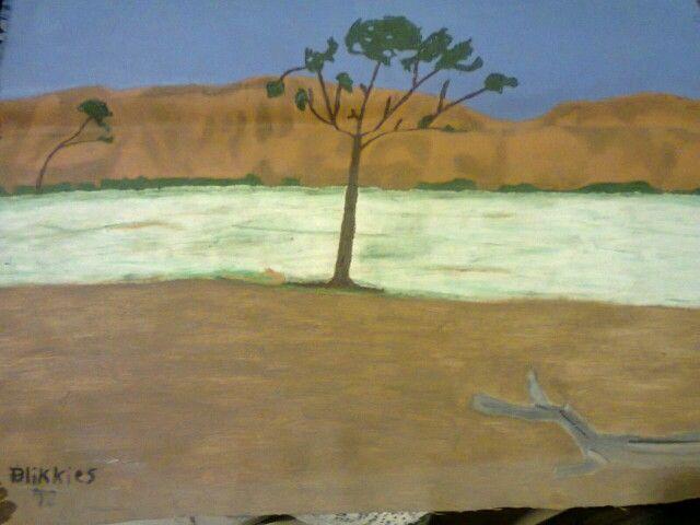Semi desert. Oil paint on canvas. Artist is Charl Blignaut (Blikkies). 2013