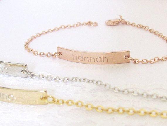 Engraved Bracelet, Custom Bracelet, Engraved Jewelry, Personalized Bar Bracelet, Personalized Name Bracelet, Name Bracelet, Custom Engraved