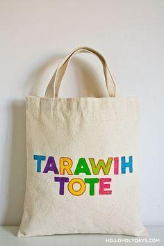 Ramadan Ideas: Fabric Markers Tote Bag - Hello Holy Days! #ramadan