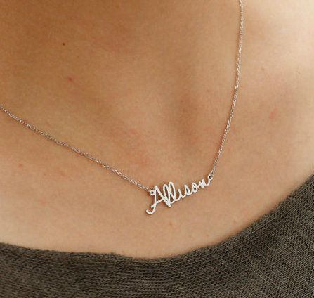 Silver name necklace, custom jewelry