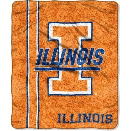 "Illinois Fighting Illini ""Jersey"" 50"" x 60"" Sherpa Throw Blanket"