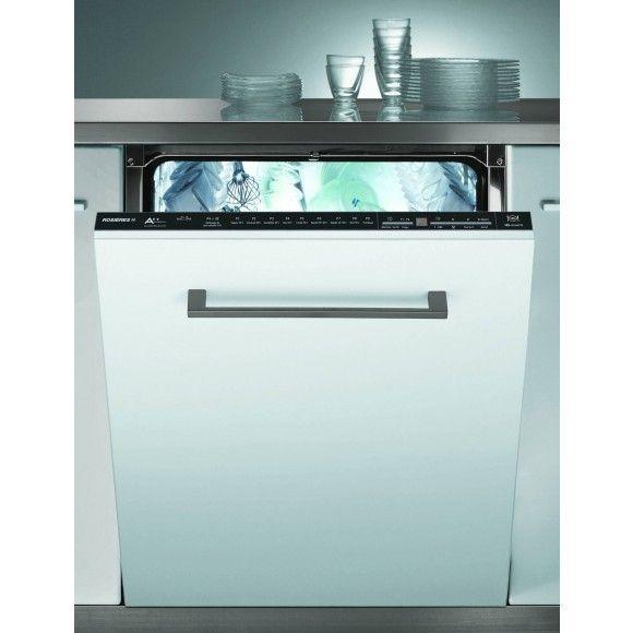 Rosières - RLF6621E47 - 16 couverts - 44 dB - Conso 10 litres - Panier sup réglable - Cuve et retour inox / Lave-vaisselle tout intégrable 60 cm RLF 6621 E 47 : Villatech