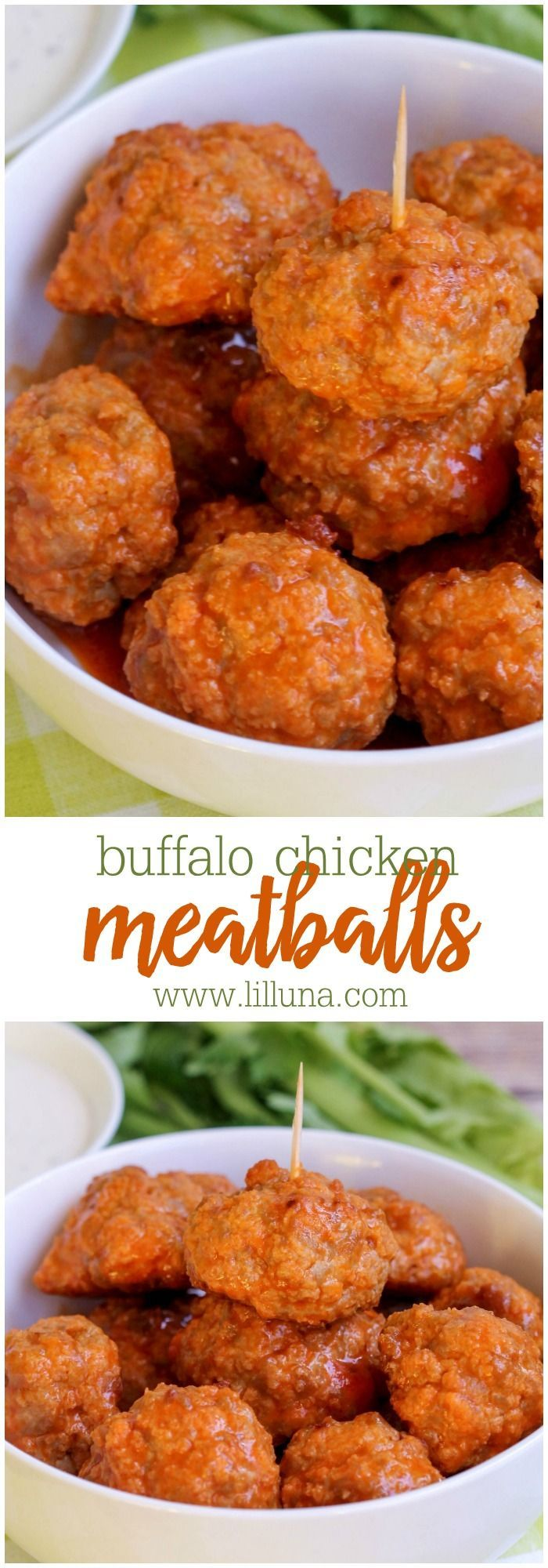 Buffalo Chicken Meatballs - Lil' Luna