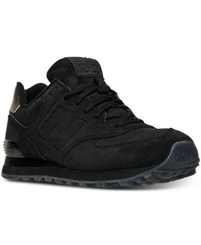 womens new balance 574 all black