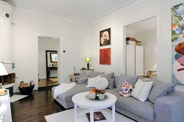 Acogedor apartamento en Suecia 9 Cozy Apartment sueca con la quema de madera chimenea con Encanto