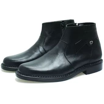 BSM Soga BPA 221 Sepatu Formal Boots/ Kerja Pria Kulit Asli - Elegan - Hitam