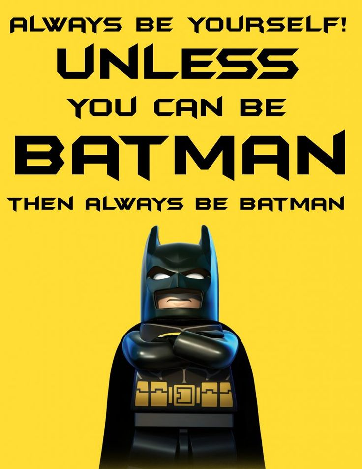 Free LEGO Batman Printable