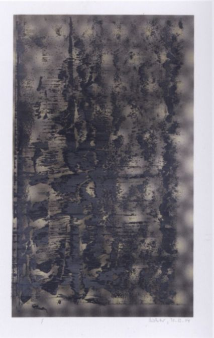 Gerhard Richter, Ohne Titel (31.12.04) Untitled (31.12.04), 2004, 101 cm x 66 cm, Silk screen and offset print, squeegeed with oil paint