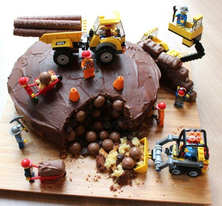 Lego bouw taart