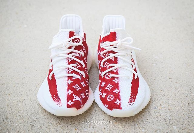 outlet store sale 006ac 23838 Would You Cop This LV x Supreme Inspired Yeezy Custom ...