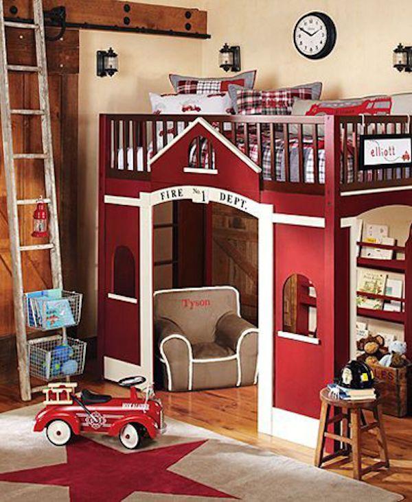 Las 25 mejores ideas sobre camas de camiones de bomberos - Camas infantiles originales ...