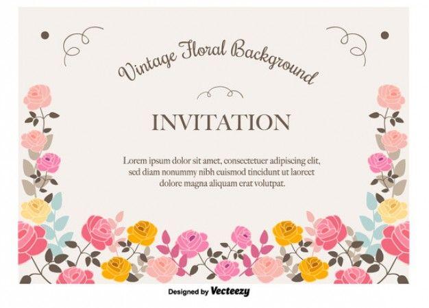 12 best diseos vintage images on pinterest invitations vector cf61f8072064429231852c6a795efe02 floral invitation floral vintageg stopboris Choice Image