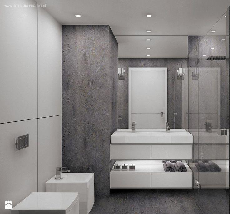 Łazienka minimalistyczna - zdjęcie od Interium Projekt - Łazienka - Styl Minimalistyczny - Interium Projekt