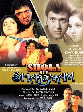 Shola Aur Shabnam (1992) Hindi Movie Online - Govinda, Divya Bharti, Gulshan Grover, Alok Nath, Mohnish Bahl, Harish Patel and Raja Bundela. Directed by David Dhawan. Music by Bappi Lahiri. 1992 [U[