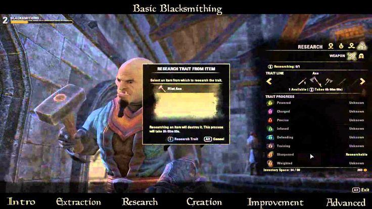 Eso Vlog 7 Basic Blacksnithing Elder Scrolls Online Vlogging Character Building