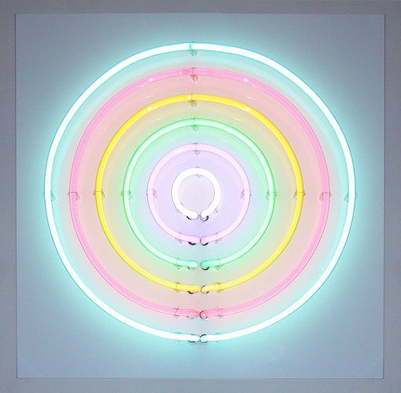 Neon Art Sign Soft Target Number 1 by KissMyNeon on Etsy, $1000.00