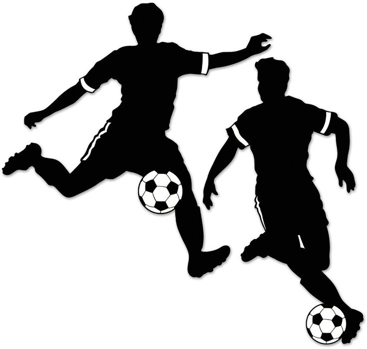 Boy Soccer Silhouettes - 12 Units