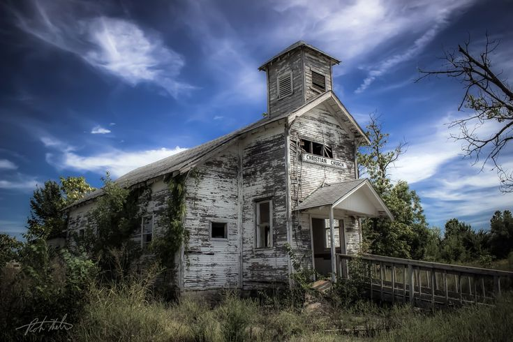 Old and abandoned country church.