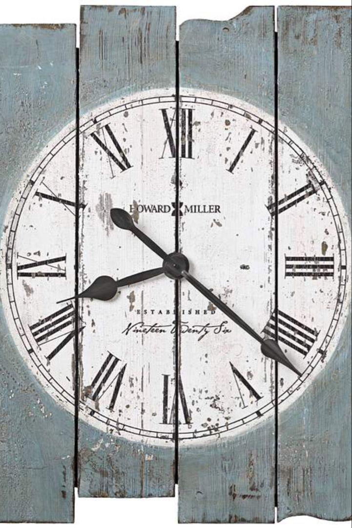 Howard Miller Mack Road 30 High Antique Blue Wall Clock 13e35 Lamps Plus Oversized Wall Clock Wall Clock Painting Clock Painting