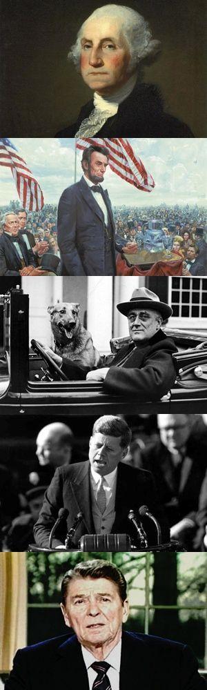 Cinque celebri discorsi di presidenti degli Stati Uniti