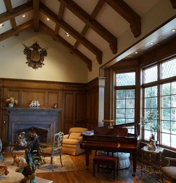 Wall color. english tudor interiors | Hillsborough Interiors for an English  Tudor Home traditional living ... | Arts and Crafts & Tudor & Gothic |  Pinterest ...