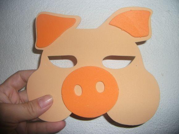 Máscara feita no material eva, linda opção de lembrancinha para seu evento mais que perfeito, podendo ser ultimado também como convite.  Obs : No lugar dor elástico pode ser colocado fita de cetim nas laterais acréscimo de R$0,50 R$ 4,50