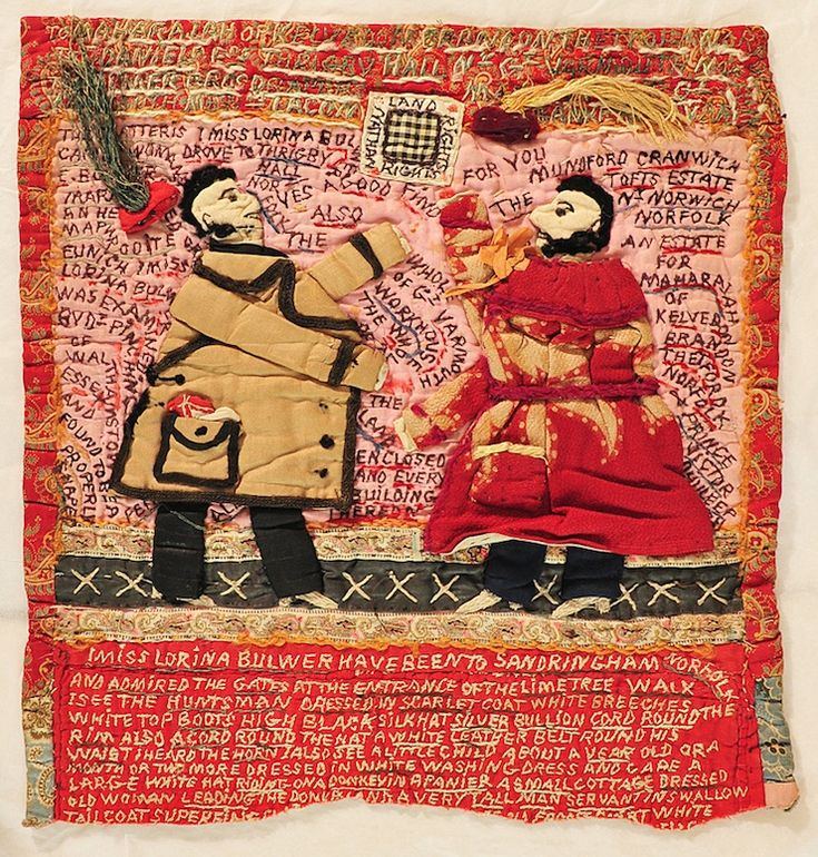 Textile samplers by Lorina Bulwer (born 1838), an inmate of the lunatic ward of the Great Yarmouth Workhouse | detail