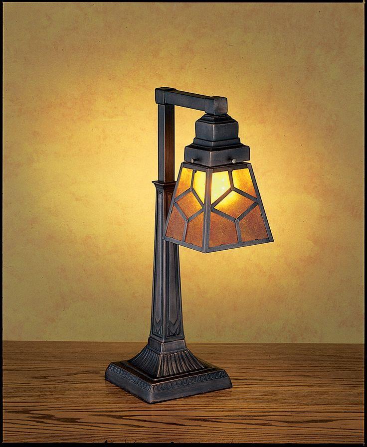 """Meyda 20""""H Diamond Craftsman Desk Lamp"""