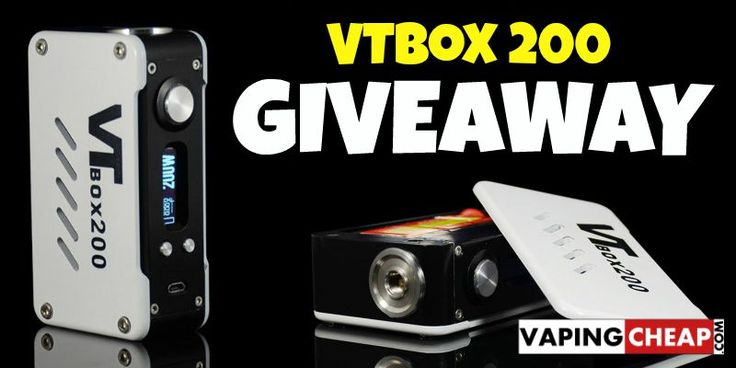 Enter to Win the DNA200 powered VTbox 200 box mod at http://vapingcheap.com