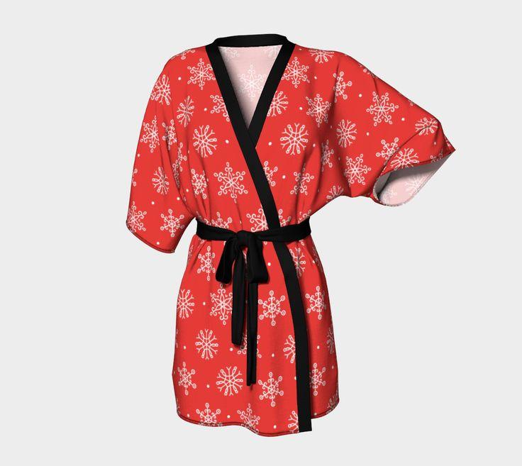Red Snowflake - Christmas - Kimono Robe