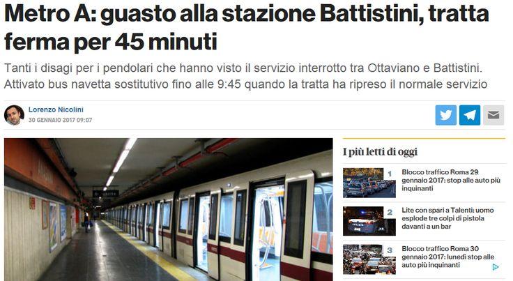 Roma: #MetroA si guasta, buon lunedì mattina Settimana nuova, guasto nuovo! Questa mattina intorno alle 9.00 il servizio, tra Ottaviano e Battistini, è stato interrotto causa guasto alla stazione di Barberini - Le fantastiche navette sostitutiv
