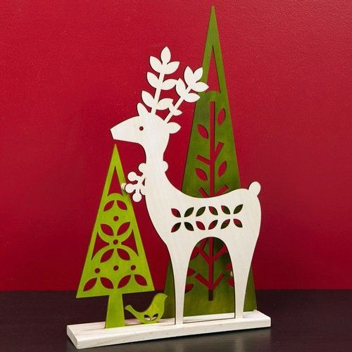 Reindeer and Trees Laser Cut