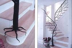 Tree RailingStairs Railings, Staircase Design, Trees Branches, Cool Ideas, Tree Branches, Wrought Iron, Staircases Railings, Stairs Design, Stairs Cases