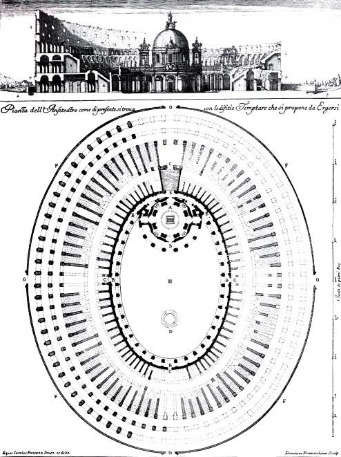 Elevation Church Plan A Visit : Carlo fontana plan and elevation of a church to be