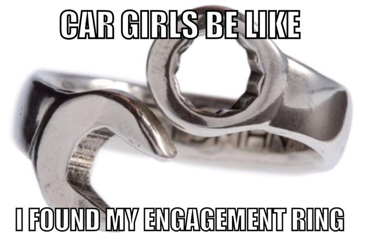 Engagement Ring! Hahaha! I actually already have my ring picked out. Its a big blown hemi.. but I like this too!!