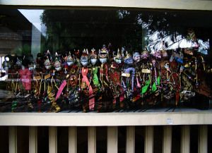 Wayang Golek of West Java Wayang Golek is a popular arts Pasundan community with a strong cultural values​​. Beside for art performances, wayang golek is often used as a unique souvenir of West Java. Wayang golek are usually made ​​of wood Albasiah or lame. Staining puppet is the most important part in the manufacturing process to produce a wayang golek for the character variety. To beautify, wayang golek wrapped with clothes according to its puppet character.  www.indonesia-souvenirs.com
