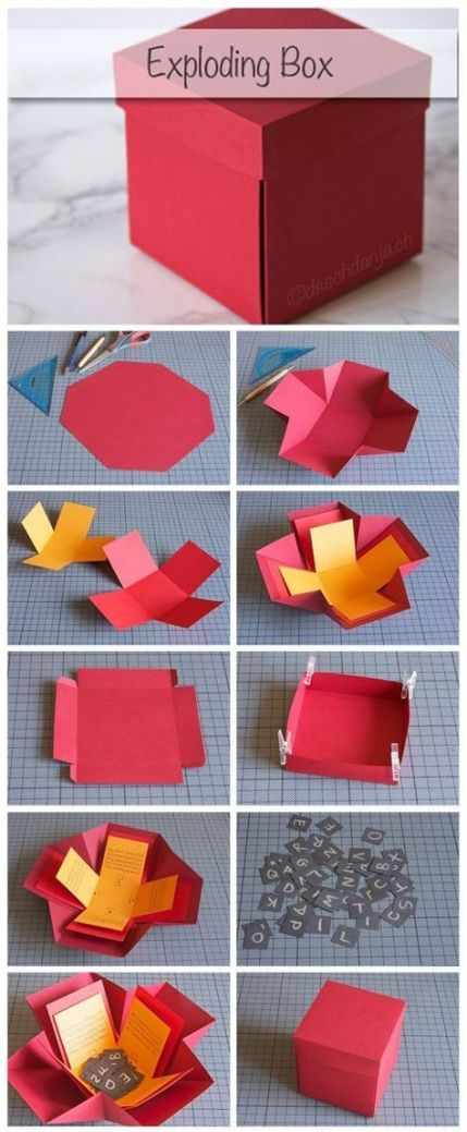 Diy gifts for boyfriend photos exploding boxes 50 Ideas