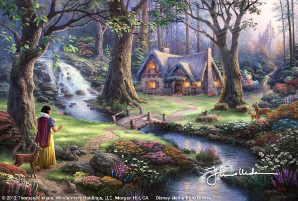Snow White Discovers the Cottage by Thomas Kinkade